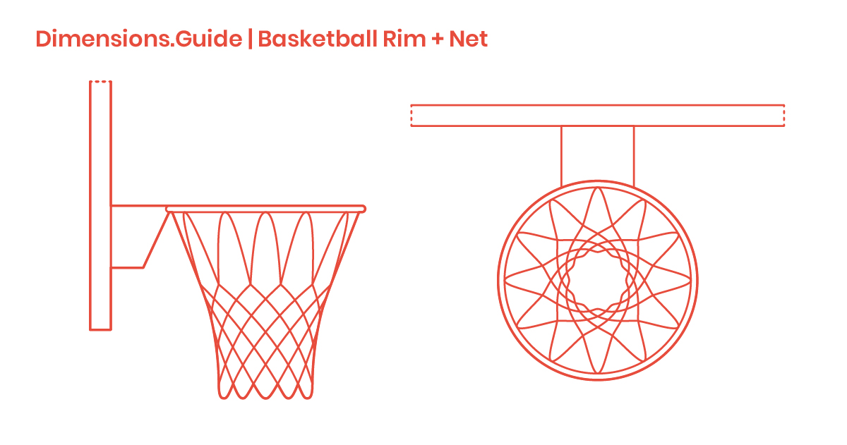 Basketball Rims Nets Dimensions