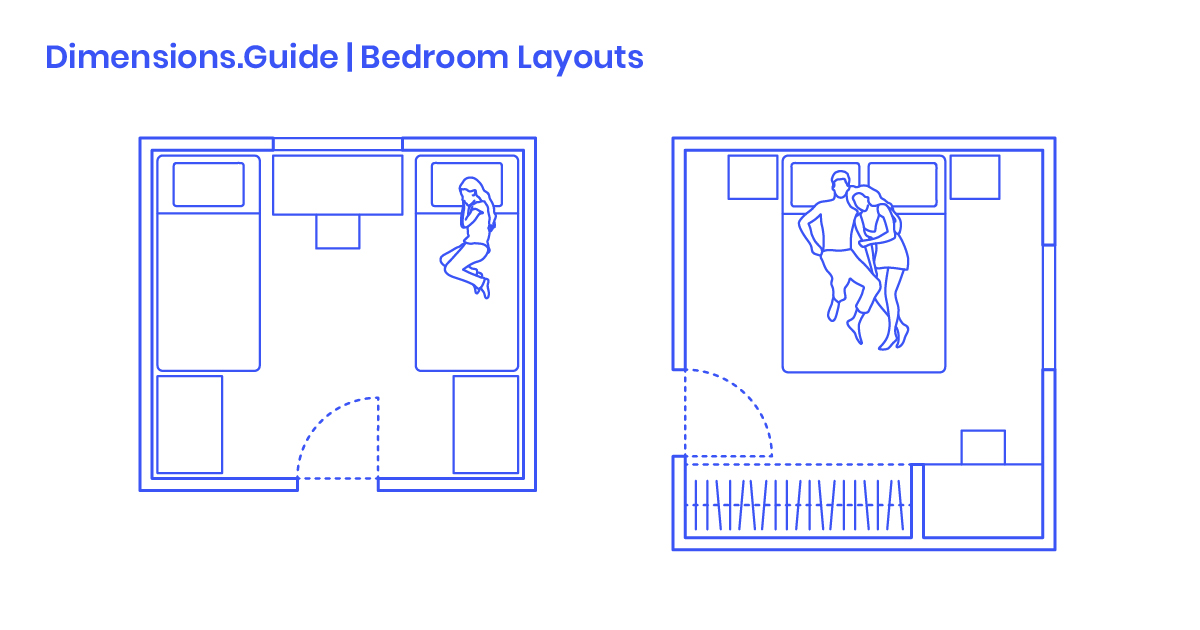 Bedroom Layouts Dimensions Amp Drawings Dimensions Guide