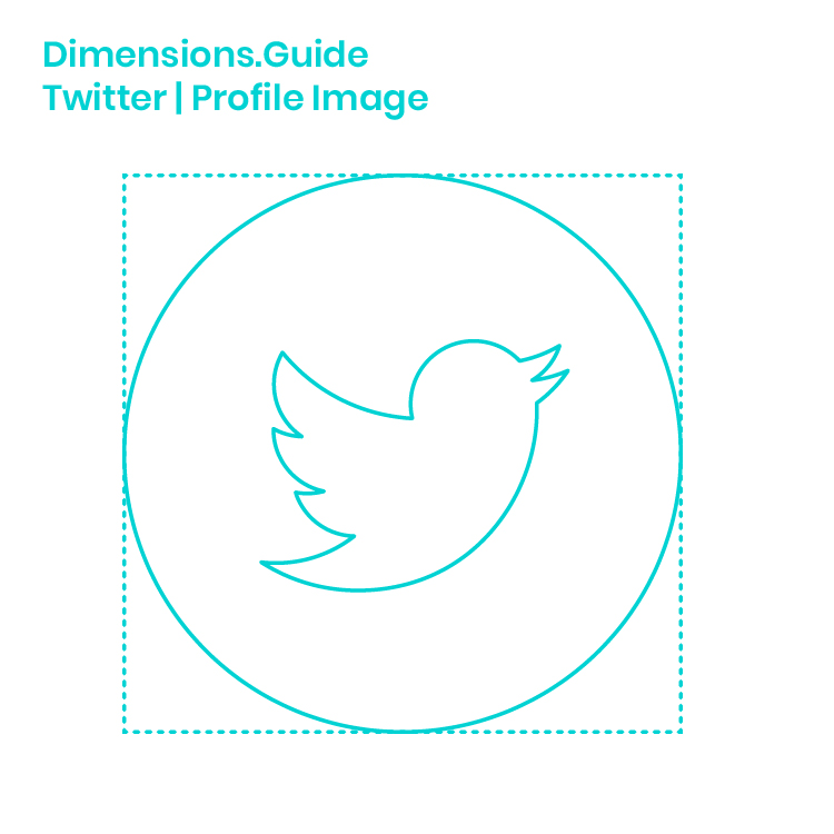 Twitter Profile Image Dimensions & Drawings | Dimensions Guide