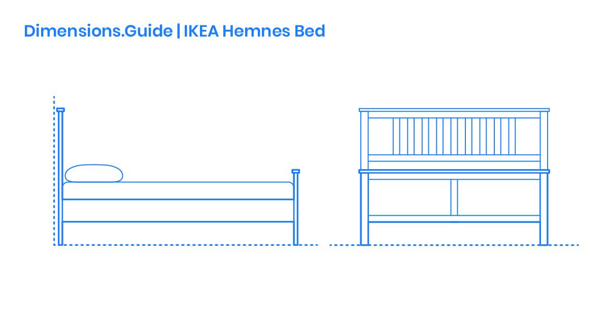 Ikea Hemnes Bed Frame Dimensions Drawings Dimensions Com