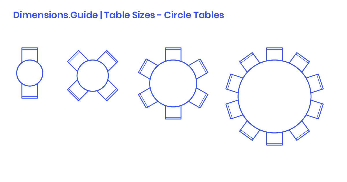 Circle Round Table Sizes Dimensions Amp Drawings