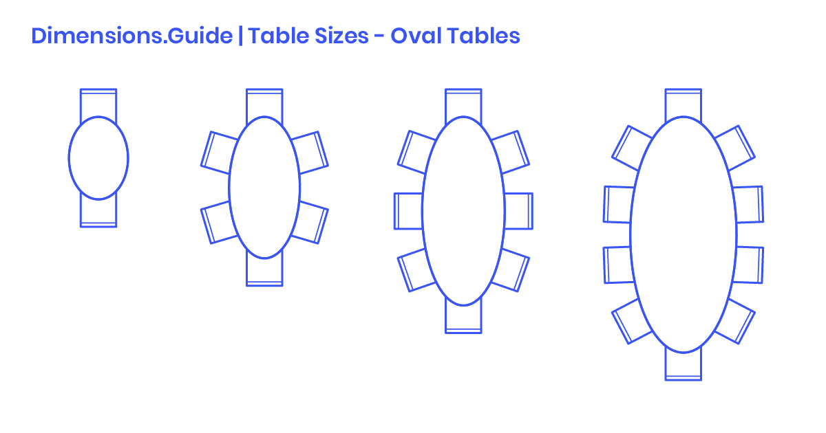 Oval Table Sizes Dimensions Drawings, 10 Seater Round Dining Table Size
