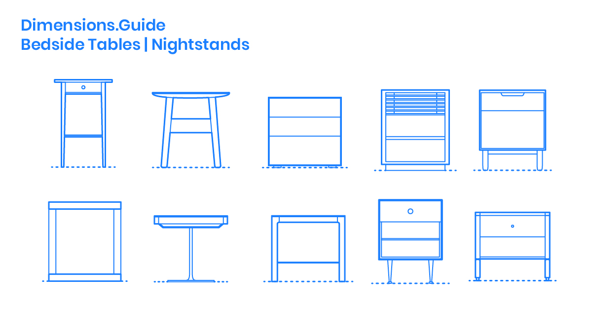 Nightstands Bedside Tables Dimensions Amp Drawings