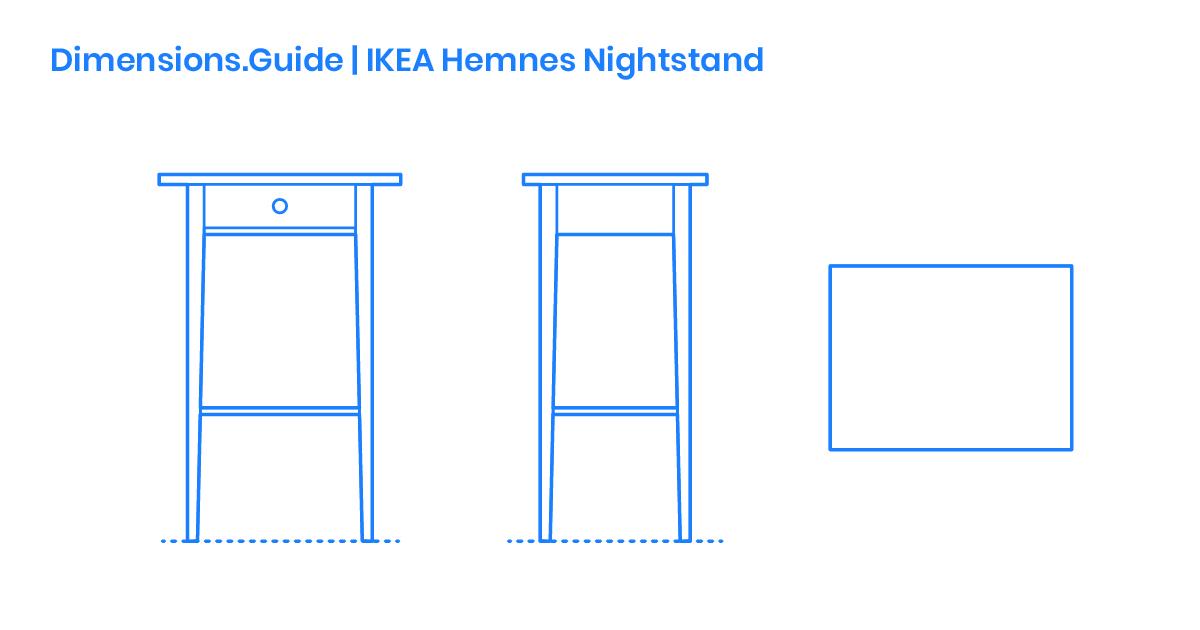 Ikea Hemnes Nightstand Dimensions Drawings Dimensions Com