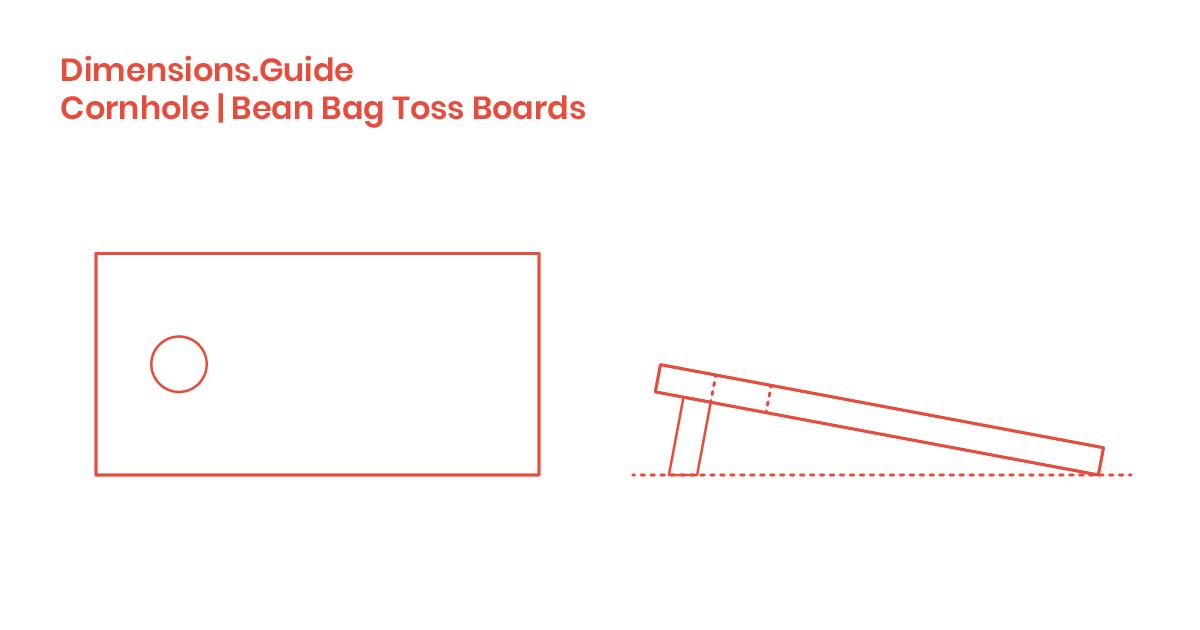 Marvelous Cornhole Bean Bag Platforms Dimensions Drawings Inzonedesignstudio Interior Chair Design Inzonedesignstudiocom