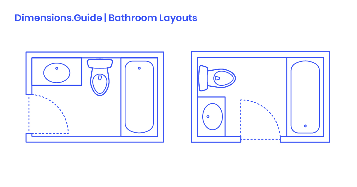Bathroom Layouts Dimensions & Drawings | Dimensions.Guide