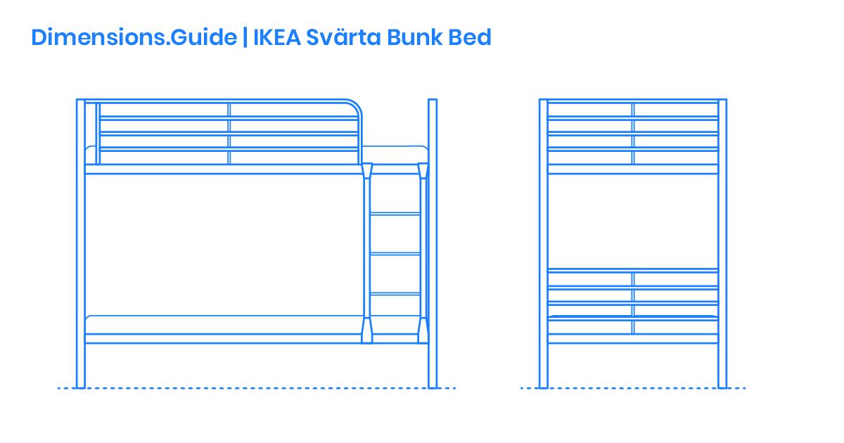 5cdf4b6ee7b5792a92a9e2b5 Dimensions Guide Furniture Bunk Beds Loft Beds IKEA Svarta Bunk Bed OG