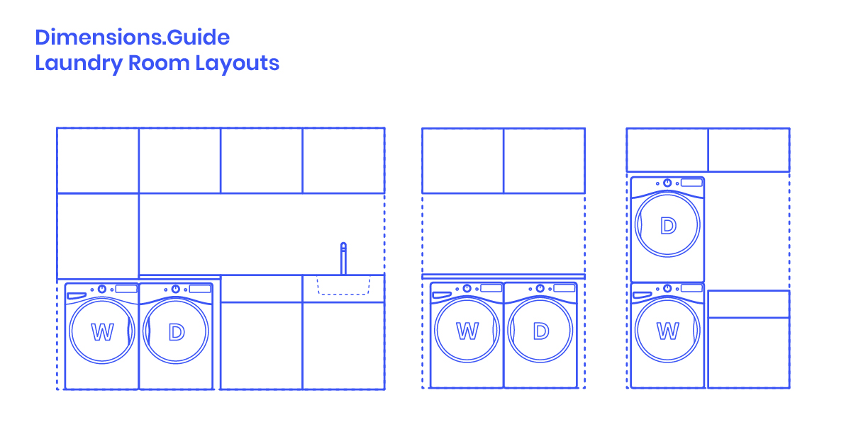 Laundry Room Layouts Dimensions Drawings Dimensions Com