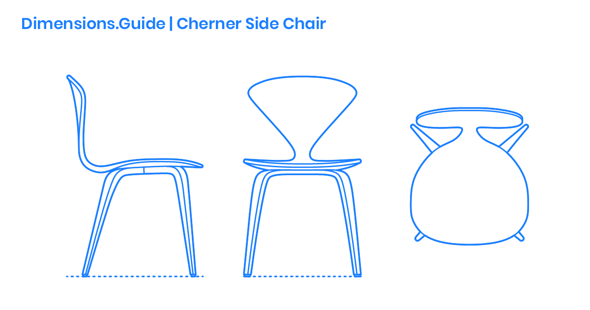 Cherner Side Chair Dimensions Amp Drawings Dimensions Guide