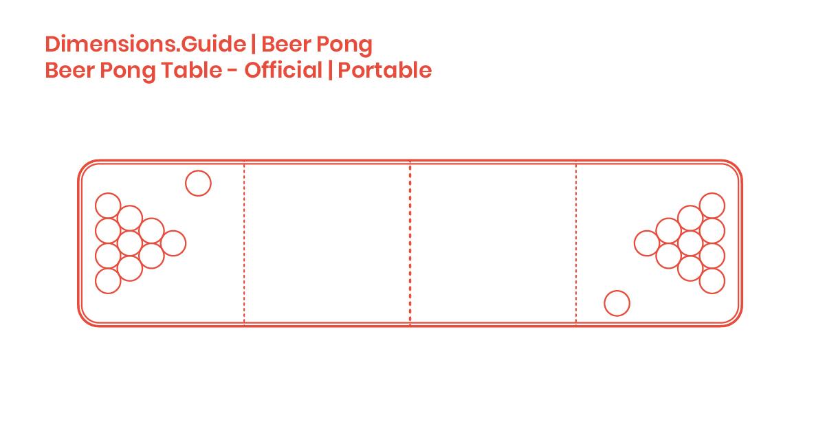 Beer Pong Table Size Cm | Bruin Blog