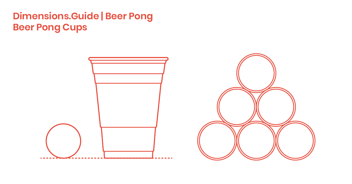 Beer Pong Cups Dimensions & Drawings   Dimensions Guide