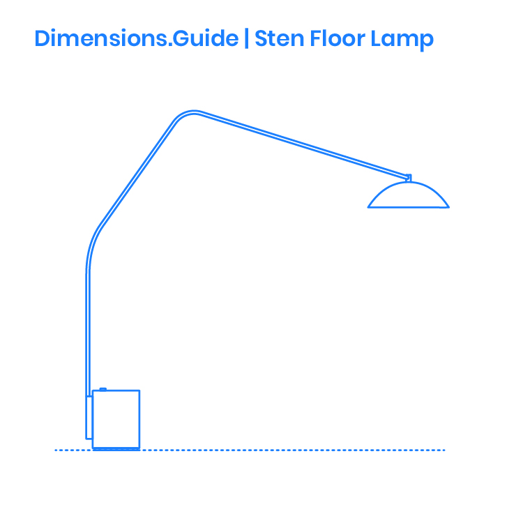 classic fit b8280 f345a Sten Floor Lamp Dimensions & Drawings | Dimensions.Guide