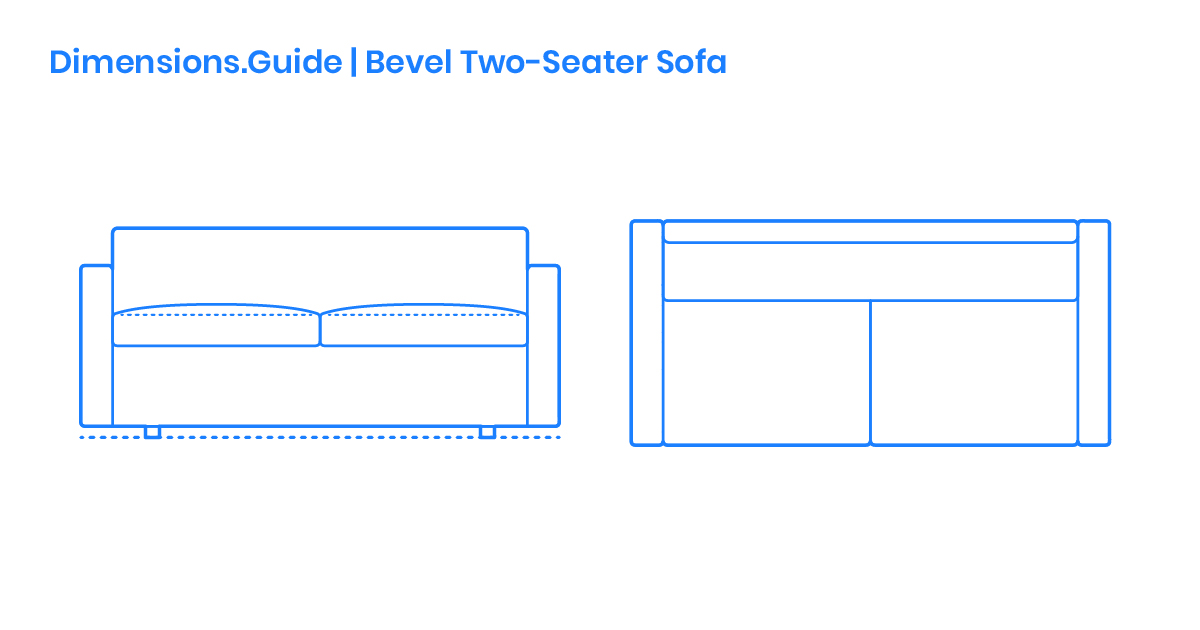 Bevel Two Seater Sofa Dimensions, What Size Is A 2 Seater Sofa