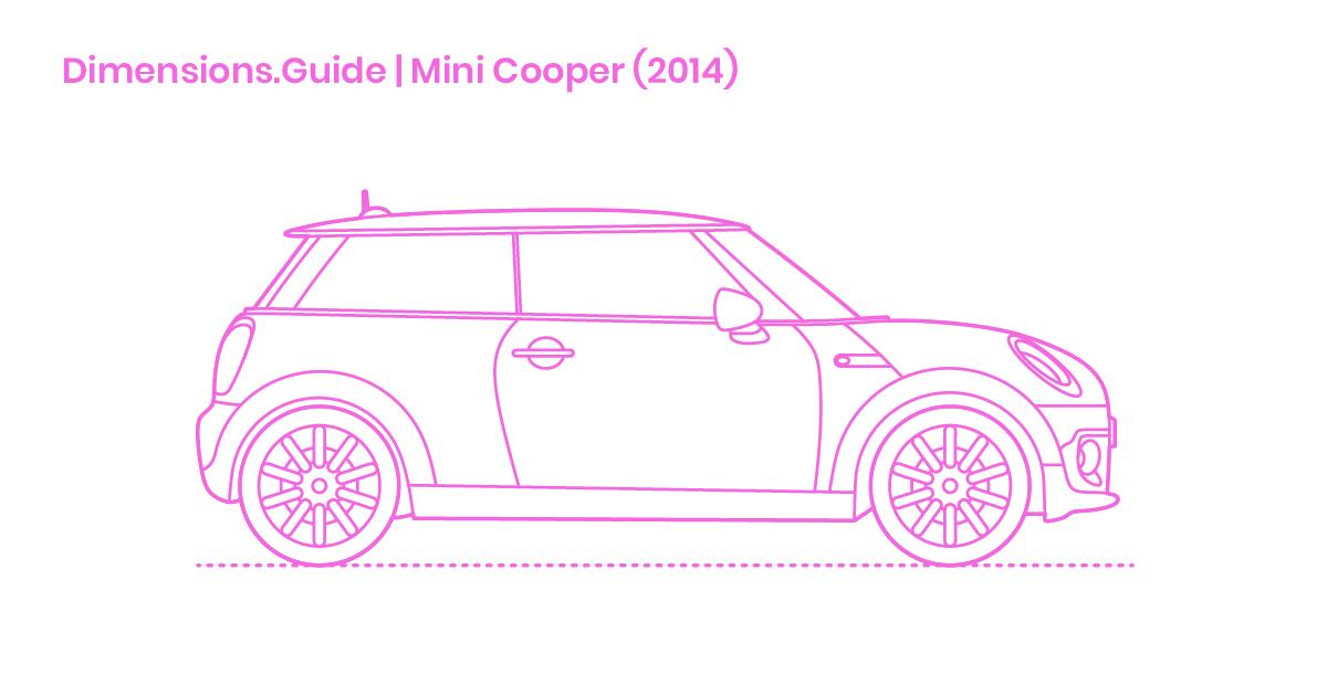 Mini Cooper Dimensions >> Mini Cooper Dimensions Drawings Dimensions Guide
