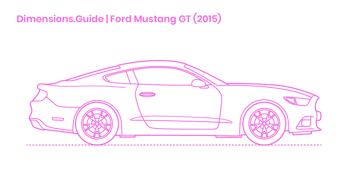 Ford Mustang Gt 2015 Dimensions Drawings Dimensions Com