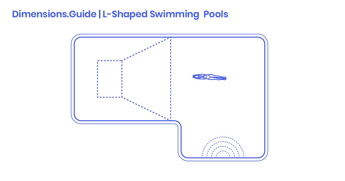 L Shaped Swimming Pools Dimensions Drawings Dimensions Com