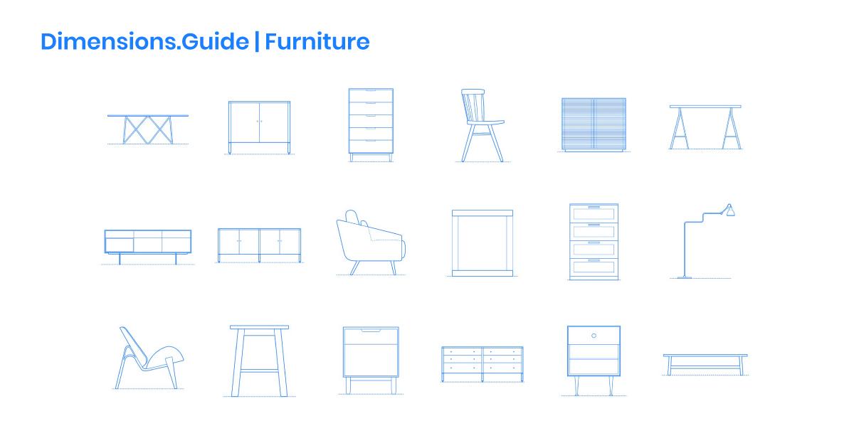 Furniture Dimensions Drawings, Standard Furniture Dimensions