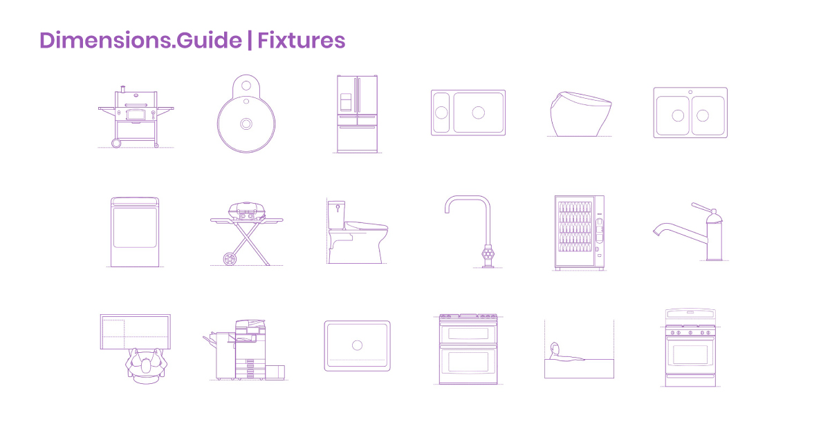 Fixtures Dimensions & Drawings   Dimensions Guide