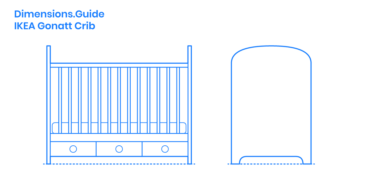 Ikea Gonatt Crib Dimensions Drawings Dimensions Com
