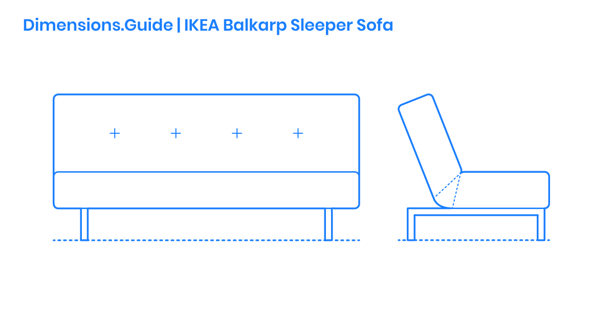 Peachy Ikea Balkarp Sleeper Sofa Dimensions Drawings Dimensions Andrewgaddart Wooden Chair Designs For Living Room Andrewgaddartcom