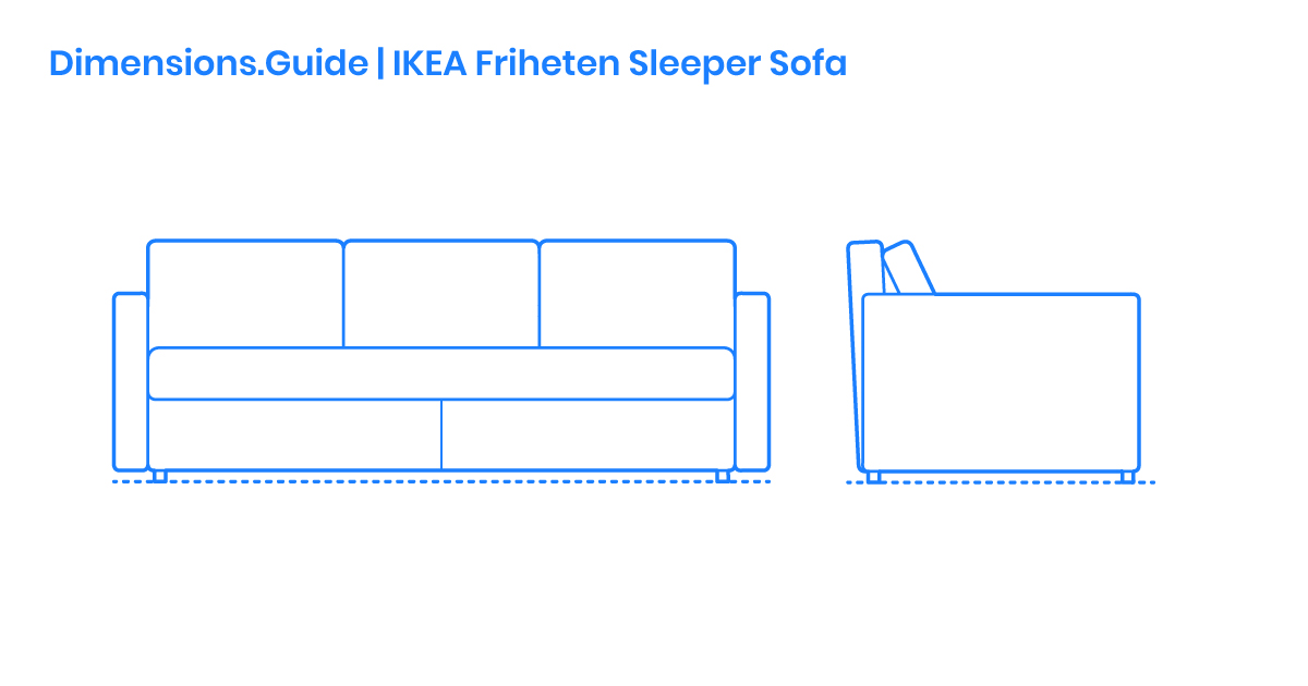 Astounding Ikea Friheten Sleeper Sofa Dimensions Drawings Bralicious Painted Fabric Chair Ideas Braliciousco