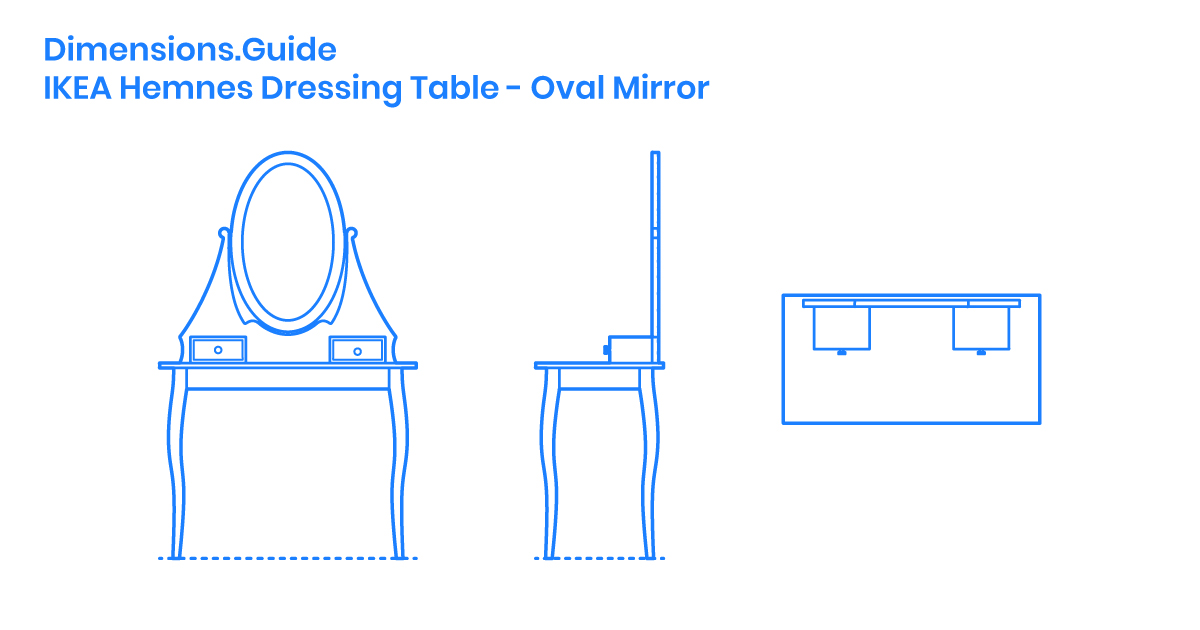 Ikea Hemnes Dressing Table Oval, Ikea Dressing Table With Mirror And Lights