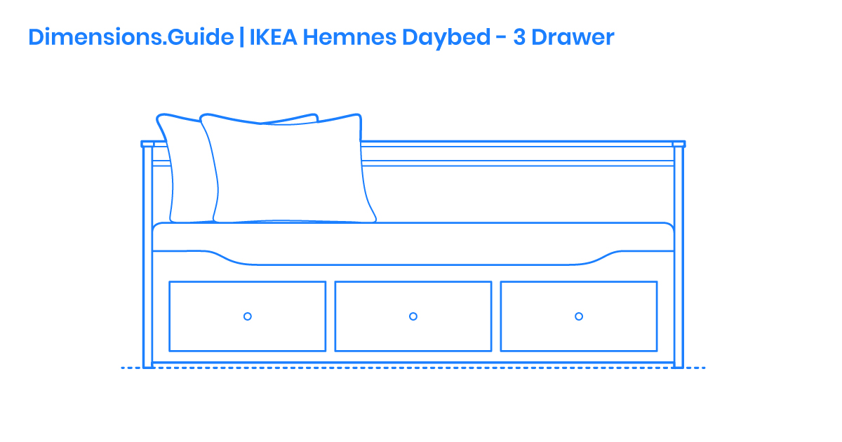 Ikea Hemnes Daybed 3 Drawers Dimensions Drawings Dimensions Com