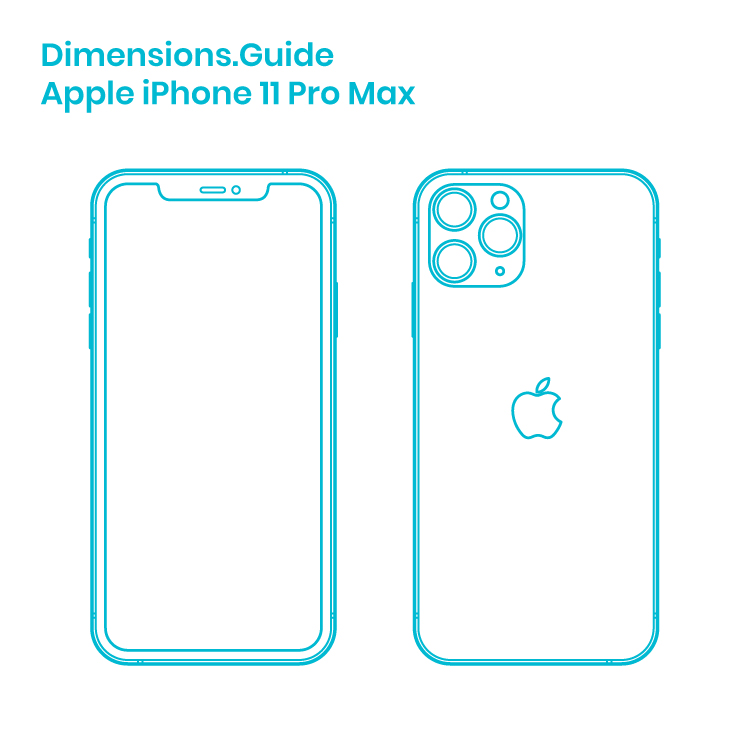 Apple Iphone 11 Pro Max Dimensions Drawings Dimensions Guide