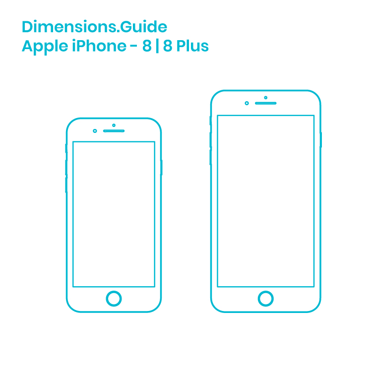 Apple iPhone 8 | 8 Plus Dimensions & Drawings | Dimensions.Guide
