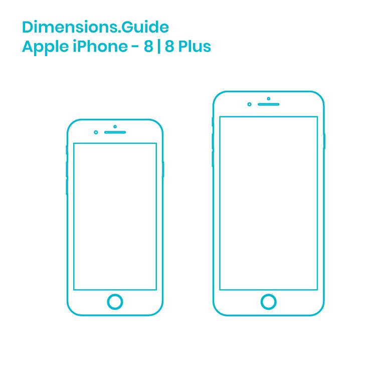 Apple Iphone 8 8 Plus Dimensions Drawings Dimensions Com