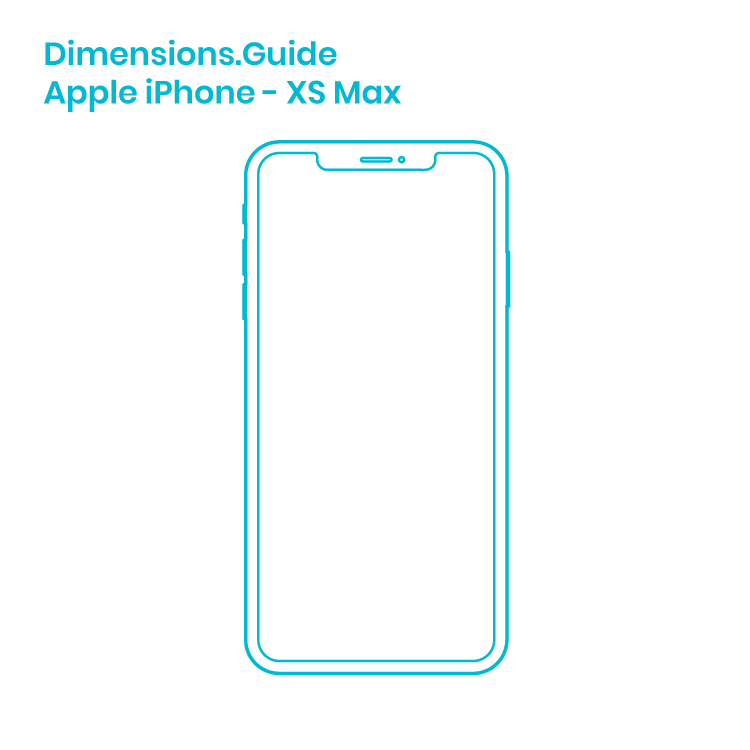 Apple Iphone Xs Max Dimensions Drawings Dimensions Guide