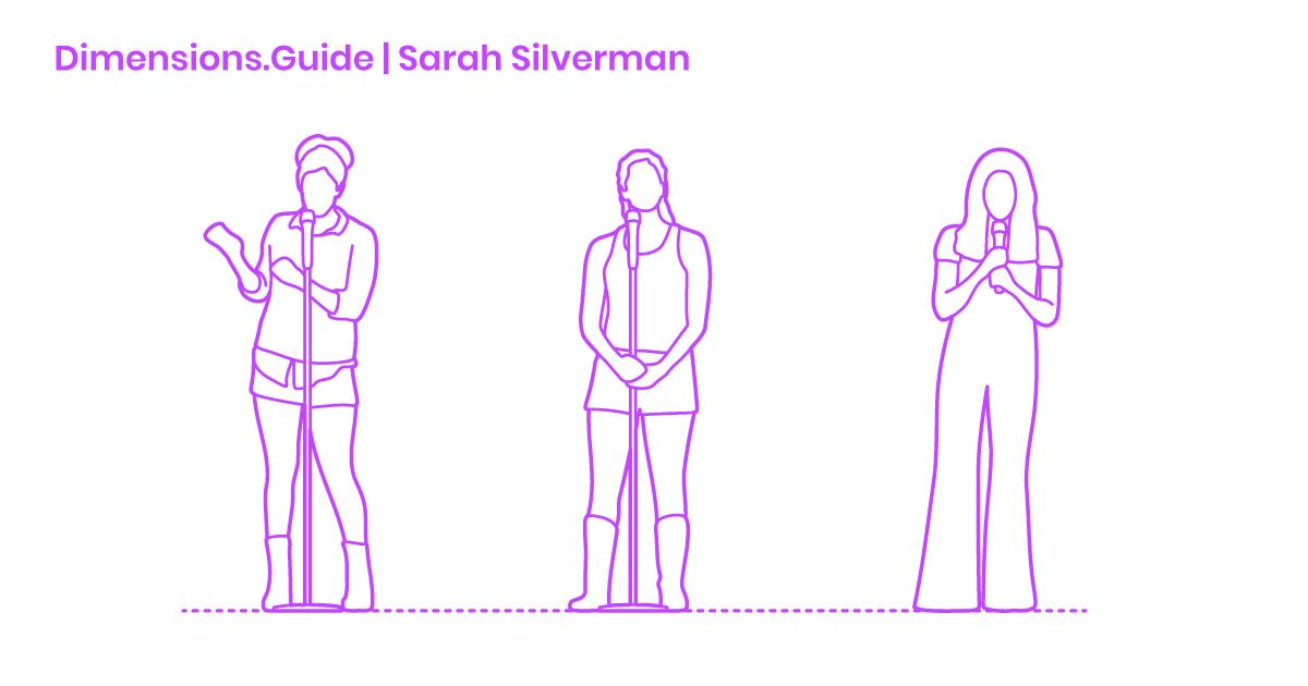 Sarah Silverman Dimensions & Drawings | Dimensions Guide