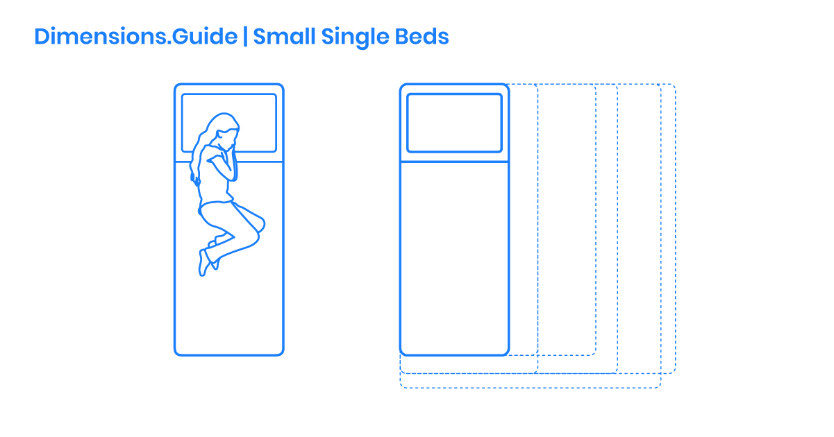 Small Single Bed Dimensions Drawings
