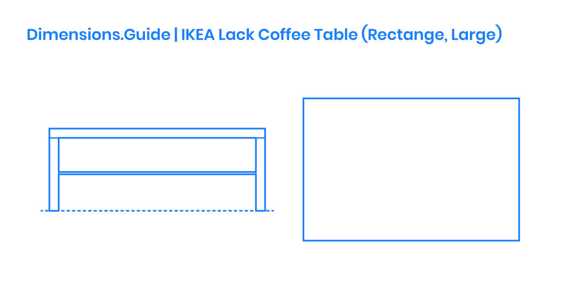 IKEA Lack Coffee Table (Rectangle, Large) Dimensions ...
