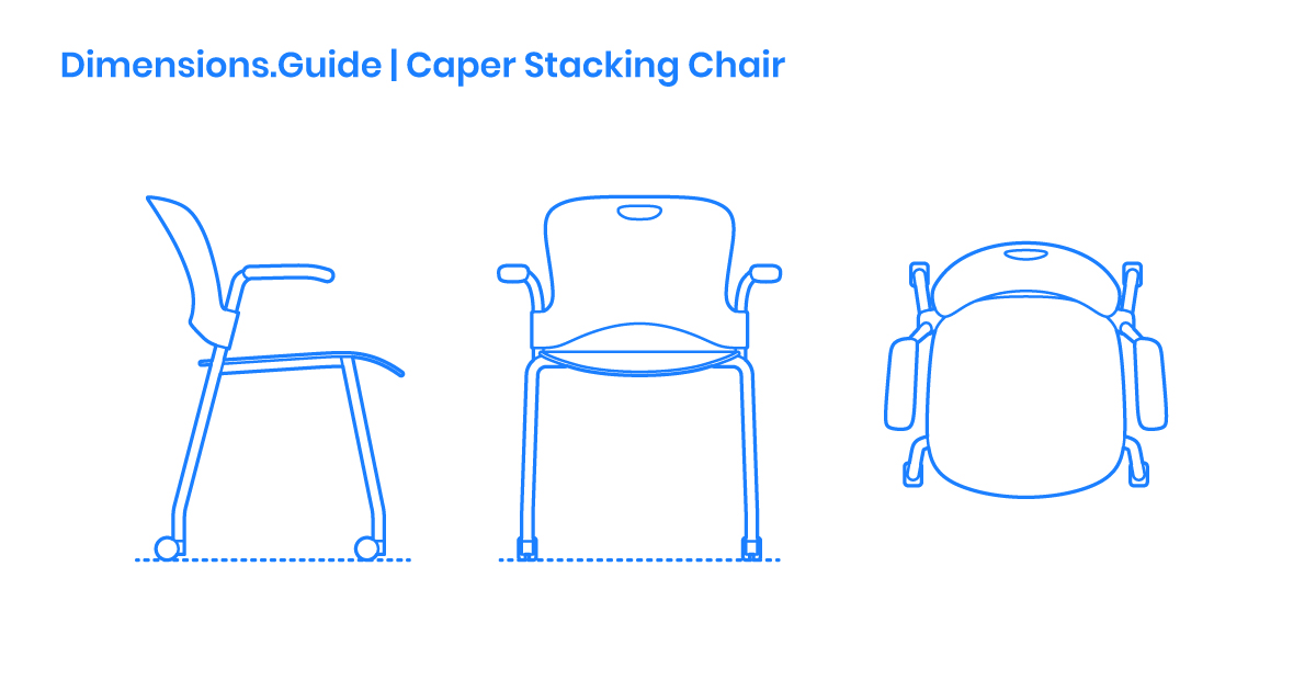 Caper Stacking Chair Dimensions