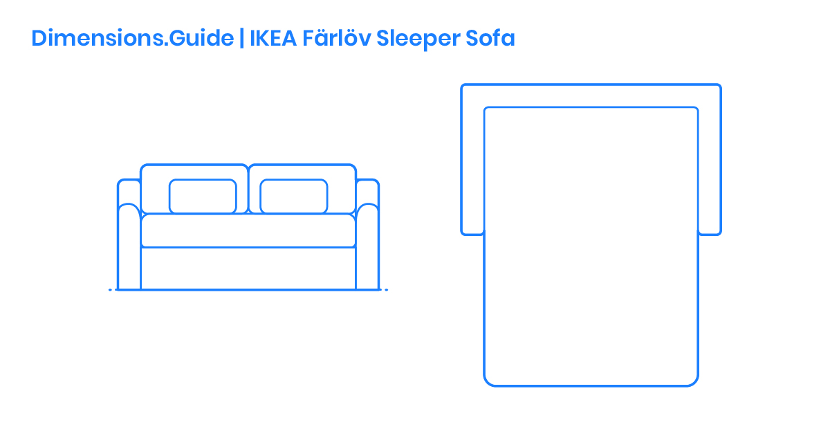 Ikea F 228 Rl 246 V Sleeper Sofa Dimensions Amp Drawings
