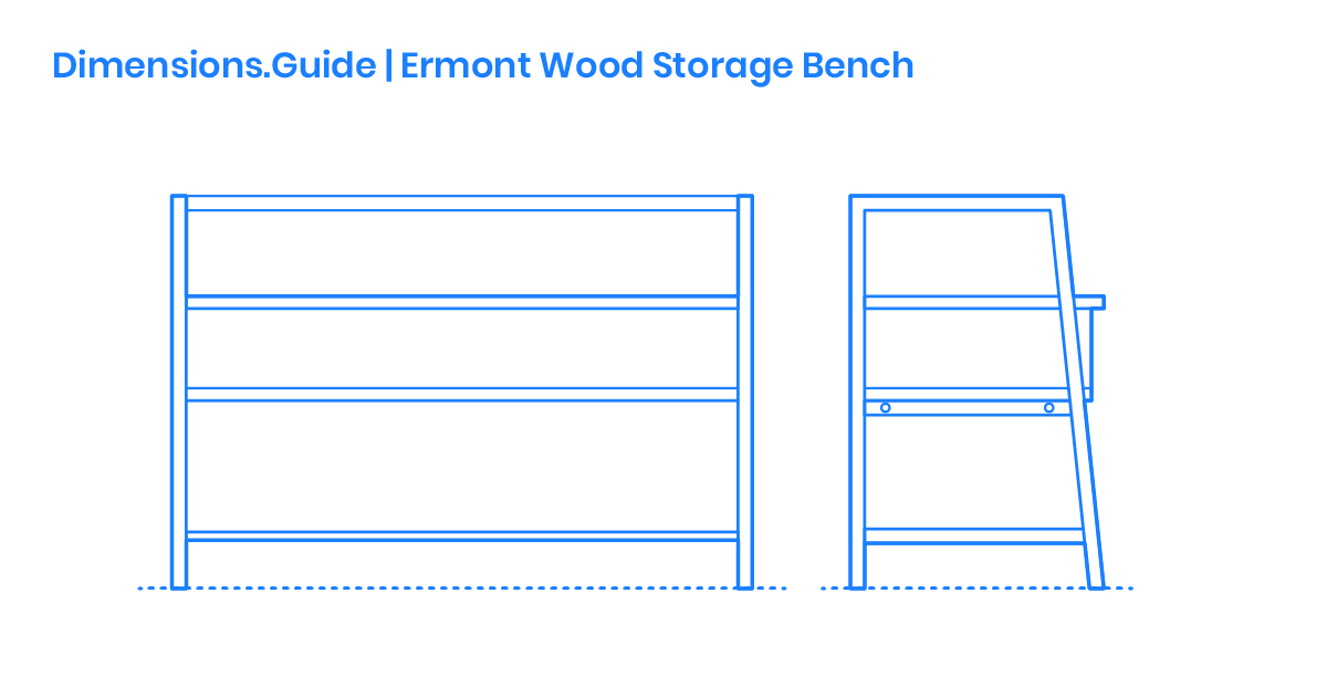 Phenomenal Ermont Wood Storage Bench Dimensions Drawings Dimensions Lamtechconsult Wood Chair Design Ideas Lamtechconsultcom