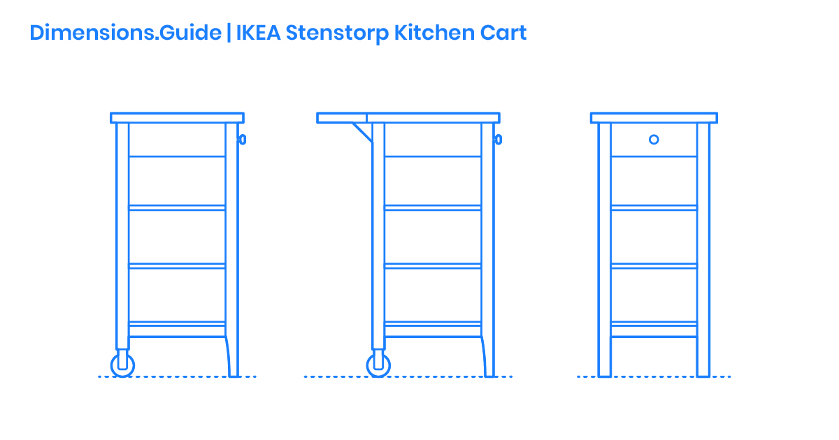 IKEA Stenstorp Kitchen Cart Dimensions & Drawings ...
