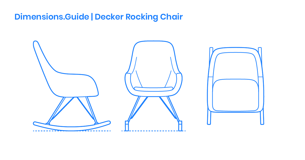 Pleasant Decker Rocking Chair Dimensions Drawings Dimensions Guide Inzonedesignstudio Interior Chair Design Inzonedesignstudiocom