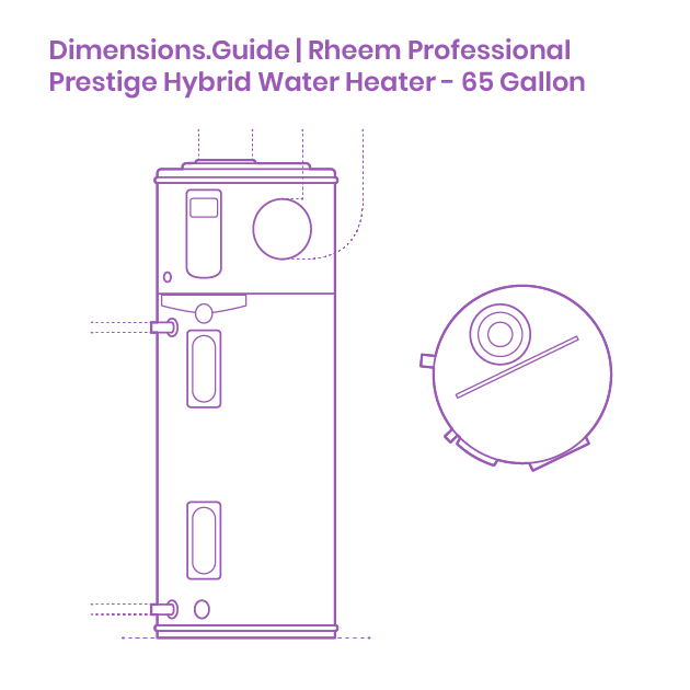 Rheem Prestige Hybrid Electric Water Heater  U2013 65 Gal