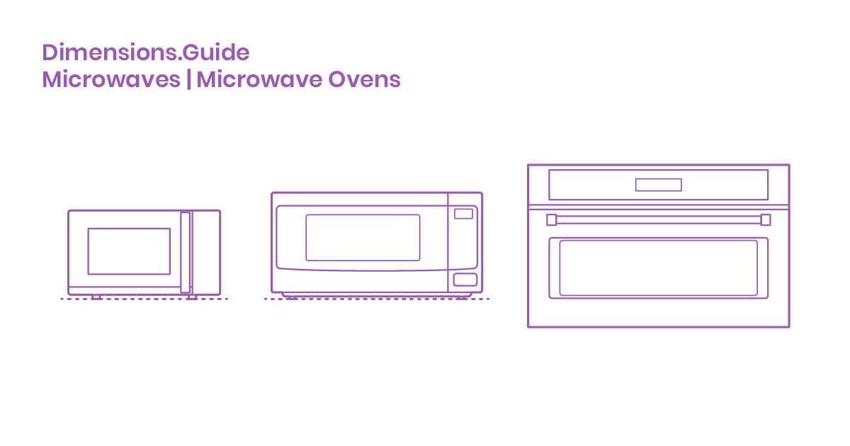 Microwave Dimensions Drawings
