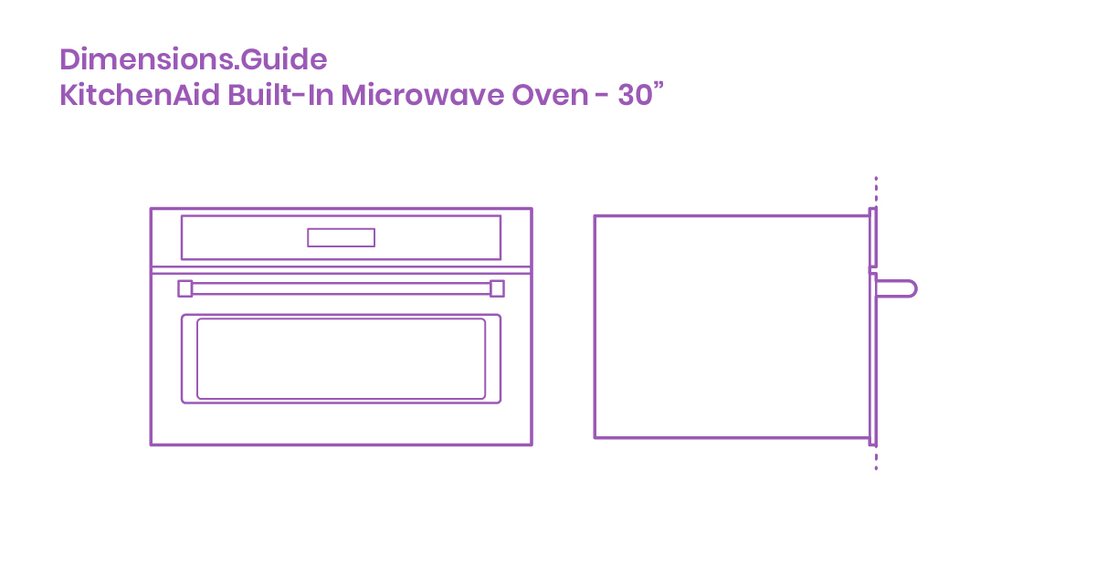 Kitchenaid Built In Microwave Oven 30 Dimensions Drawings