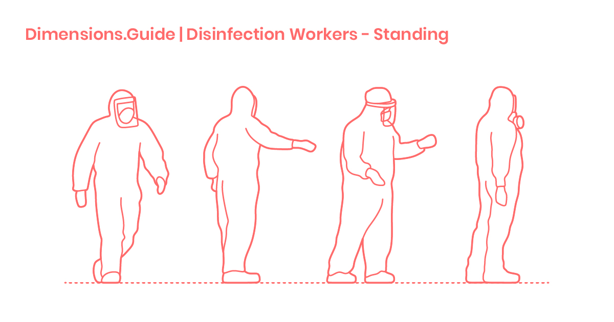 Disinfection Workers Standing Dimensions Amp Drawings
