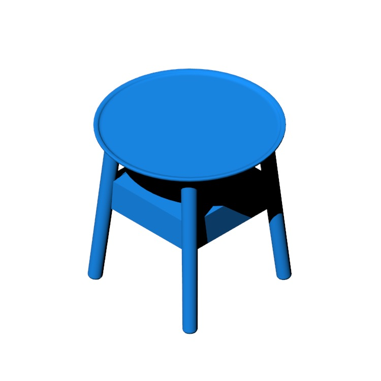 3D model of the Edge Bedside Table viewed in perspective