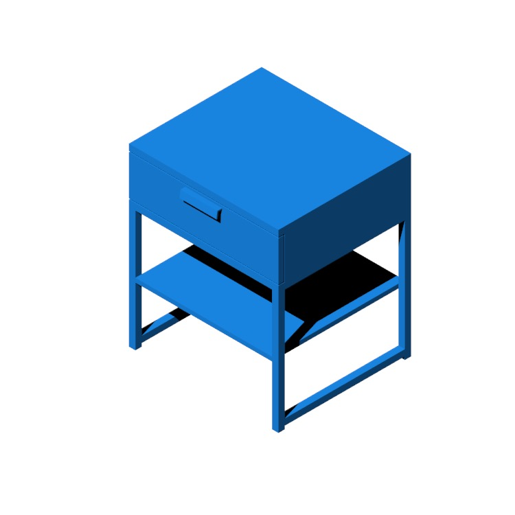 View of the IKEA Trysil Nightstand in 3D available for download
