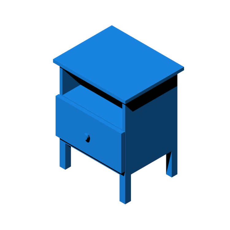 3D model of the IKEA Tarva Nightstand viewed in perspective