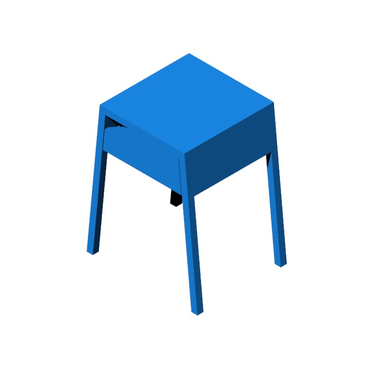 3D model of the IKEA Selje Nightstand viewed in perspective