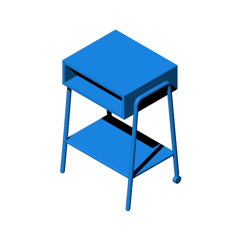 View of the IKEA Setskog Nightstand in 3D available for download