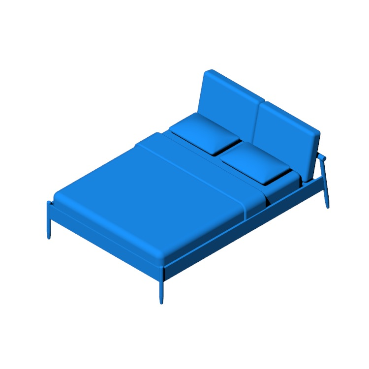 View of the Raleigh Bed in 3D available for download
