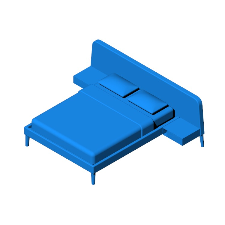 Perspective view of a 3D model of the Parallel Wide Bed